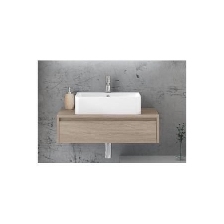 Base portalavabo 1 cassetto + lavabo in ceramica - Trevi 02